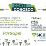 Café Palestra de apresentação Projeto de gestão de Finanças Pessoais